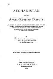 Cover of: Afghanistan and the Anglo-Russian dispute