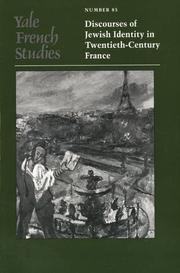 Cover of: Yale French Studies, Number 85