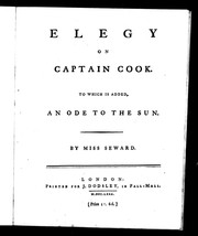 Cover of: Elegy on Captain Cook