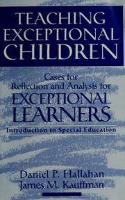 Cover of: Teaching exceptional children