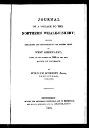 Cover of: Journal of a voyage to the northern whale-fishery