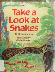 Cover of: Take a look at snakes