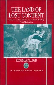 Cover of: The land of lost content