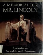 Cover of: A memorial for Mr. Lincoln