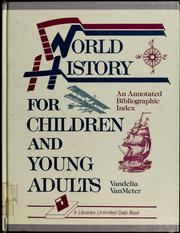 Cover of: World history for children and young adults