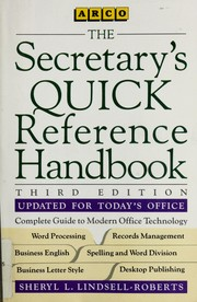 Cover of: The secretary's quick reference handbook