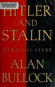 Cover of: Hitler and Stalin: parallel lives