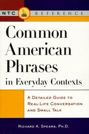 Cover of: Common American phrases in everyday contexts