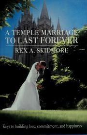 Cover of: A temple marriage to last forever