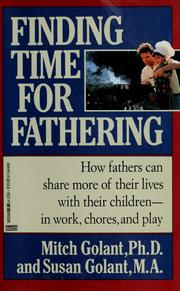 Cover of: Finding time for fathering