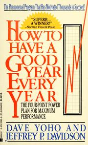 Cover of: How to have a good year every year