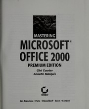 Cover of: Mastering Microsoft Office 2000
