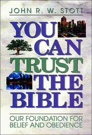Cover of: You can trust the Bible