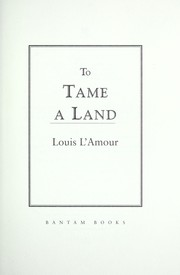Cover of: To tame a land