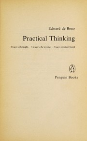 Cover of: Practical thinking