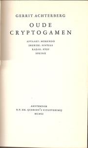 Cover of: Oude cryptogamen