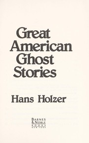 Cover of: Great American ghost stories