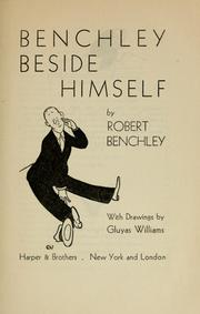 Cover of: Benchley beside himself