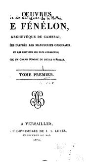 Cover of: Oeuvres de Fénélon