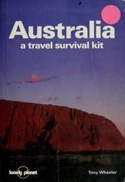 Cover of: Australia, a travel survival kit