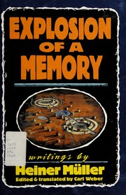 Cover of: Explosion of a Memory (PAJ Books)