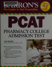 Cover of: Barron's PCAT Pharmacy College Admission Test