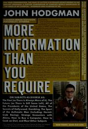 Cover of: More information than you require