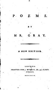 Cover of: Poems by Mr. Gray