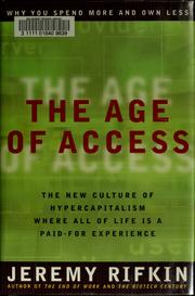 Cover of: The age of access