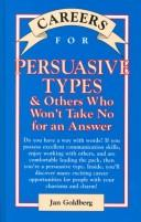 Cover of: Careers for persuasive types & others who won't take no for an answer