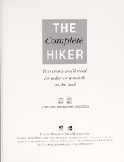 Cover of: The complete hiker