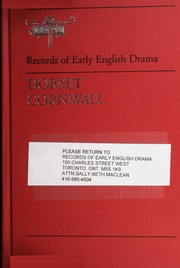 Cover of: Records of Early English Drama: Dorset/Cornwall