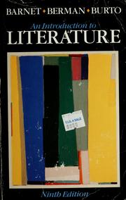 Cover of: An Introduction to literature