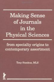 Cover of: Making sense of journals in the physical sciences
