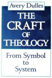 Cover of: The craft of theology