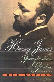 Cover of: Henry James: the imagination of genius : a biography