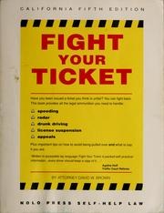 Cover of: Fight your ticket