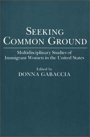 Cover of: Seeking common ground