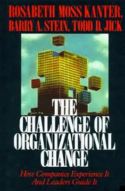 Cover of: The Challenge of organizational change