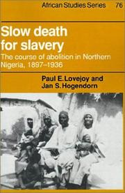 Cover of: Slow death for slavery