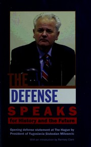 Cover of: The defense speaks