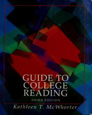 Cover of: Guide to college reading