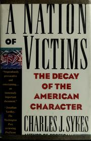 Cover of: A nation of victims
