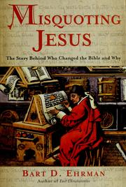 Cover of: Misquoting Jesus