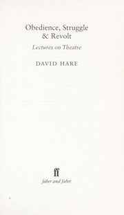 Cover of: Obedience, Struggle and Revolt: lectures on theatre
