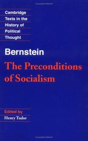 Cover of: The preconditions of socialism