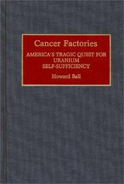 Cover of: Cancer factories