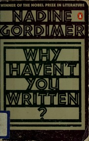 Cover of: Why haven't you written?