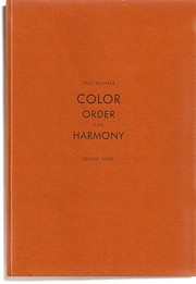 Cover of: Color: order and harmony