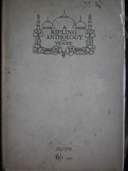 Cover of: A  Kipling anthology:Verse